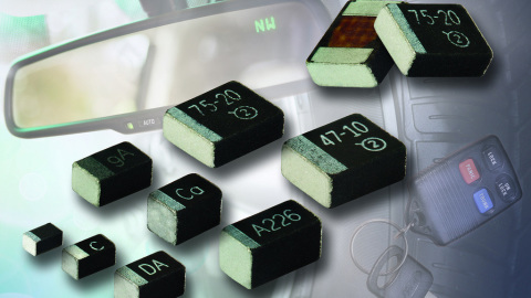Vishay introduces MicroTan(R) automotive-grade solid tantalum chip capacitors with industry-high CV ratings in small case sizes down to 0603