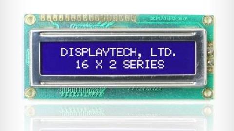 Displaytech – 16 x 2 Alphanumeric Standard LCD blue mode, TOP OFFER