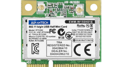 Advantech EWM-W150H01E – cost effective 802.11b/g/n USB signal half-size Mini PCIe card