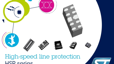 STMicroelectronics – New 4-line high speed protection for portable, industrial and automotive application