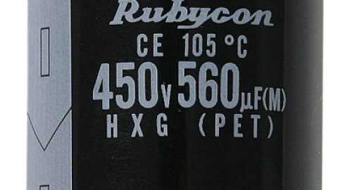 Rubycon HXG series – Miniaturized High Ripple Current Aluminum Electrolytic Capacitor