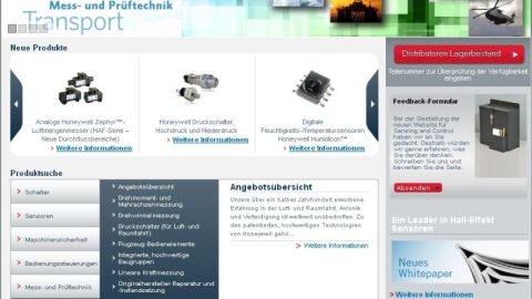 Website provides complete product information to German engineers and OEM customers