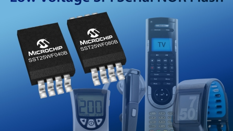 Microchip – expands SPI Serial Flash Memory portfolio with new 1.8V low-power devices