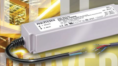 Recom – 45W and 60W LED Driver Featuring 3-in-1 dimming