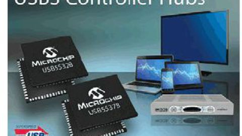 Microchips USB553XB-5000 Family Provides the Flexibility to Create Applications with Both USB3 and USB2 Ports