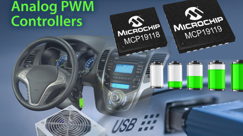 New Digitally Enhanced Power Analogue Controllers from Microchip Offer