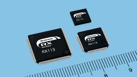 Renesas Electronics – Introduces the RX113 Group of 32-Bit Microcontrollers for Healthcare Equipment, Home Appliances and Industrial Equipment with Capacitive Touch Sensing