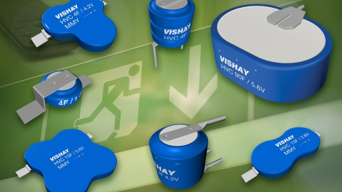 Vishay Intertechnology – 196 HVC ENYCAP Hybrid ENergY Storage Capacitors Save Space With High Energy Density and Low Profiles