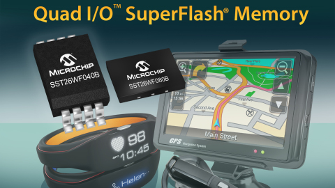 Microchip expands family of Serial Quad I/O™ SuperFlash® Memory devices with 1.8V low-power 4-Mbit and 8-Mbit memory
