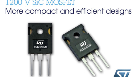 STMicroelectronics – Extends Silicon-Carbide MOSFET Family with SCT20N120