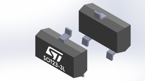 STMicroelectronics Dual-line Transil for automotive CAN bus keeps clamping voltage below 35V