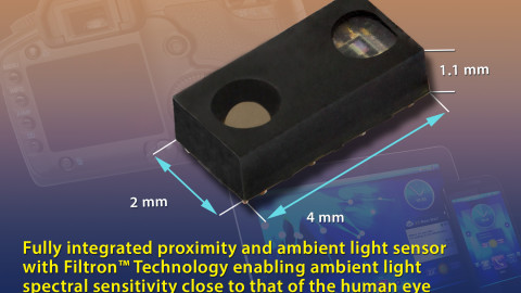 Vishay – VCNL4040: Fully Integrated Proximity and Ambient Light Sensor with Infrared Emitter, I²C Interface, and Interrupt Function