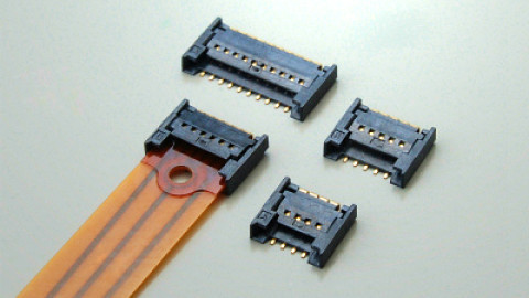 JAE – FA10 Series – Connector for FPC connection, unique one-action mating structure
