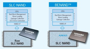 Toshiba-Comparison SLC and BENAND
