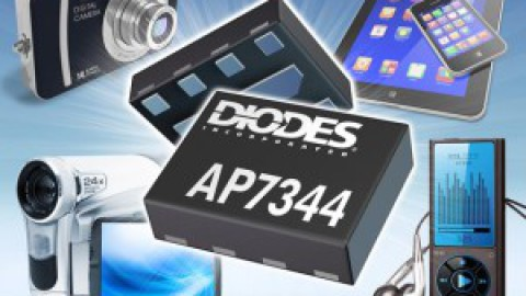 Diodes – AP7344, a compact, Dual Low-Dropout Regulator Offers High Accuracy and Low Quiescent Current