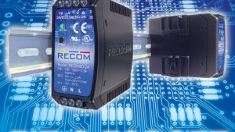 "Recom – Reliable DIN-Rail Power Supplies: ""Fit & Forget! """