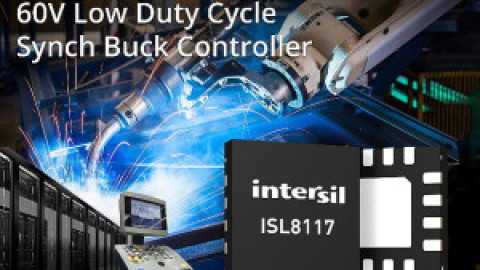 Intersil – ISL8117 PWM Controller Goes from 48V to 1V in One Step
