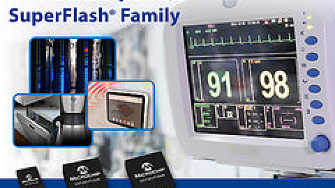 Microchip – The 3V 16/32 and 64-Mbit Serial Quad I/O™ Interface SuperFlash® Memory Family is now available
