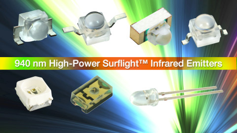 New High-Speed 940 nm IR Emitters Featuring SurfLight™ Technology Reduce Component Count and Solution Cost