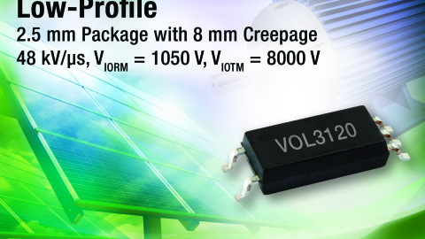 New VOL3120 Low-Profile IGBT / MOSFET Driver Saves Space in Compact Inverters