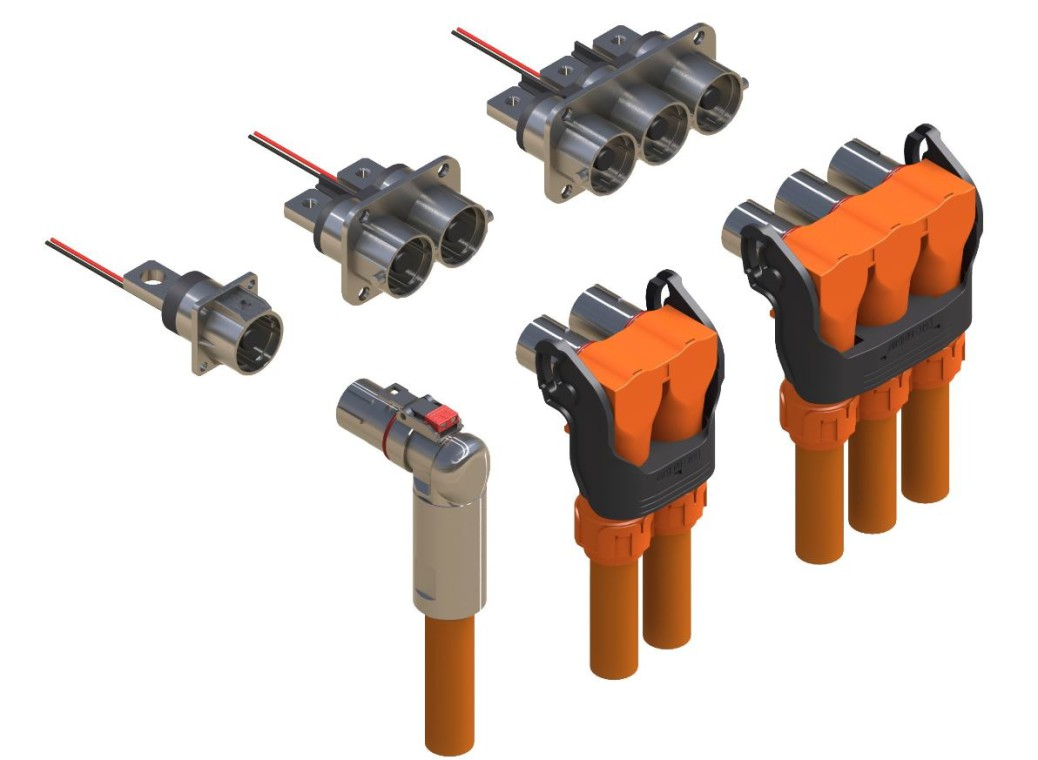 Automotive High Voltage Cable : Amphenol powerlok™ series for hybrid electric vehicles