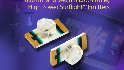 New VSMY12850 and VSMY12940 IR Emitting Diodes Offer Powerful IR Illumination in Low-Profile SMD Package With Inner Lens