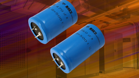 Vishay – 157 PUM-SI Snap-in Power Aluminum Electrolytic Capacitors Extended to 500 V