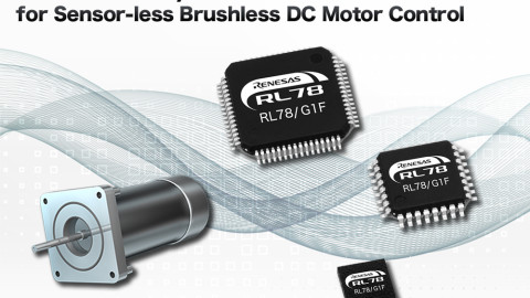Renesas Electronics Simplifies Sensor-less Brushless DC Motor Control Design for Home Appliance and Electric Power Tool Applications