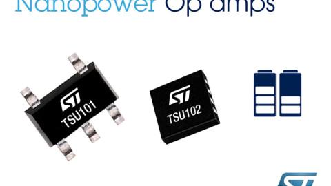 STMicroelectronics – TSU101 series – Nanopower Op-Amps