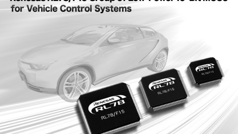 Renesas Electronics Delivers RL78/F15 Group of Low-Power 16-Bit MCUs for Vehicle Control Systems