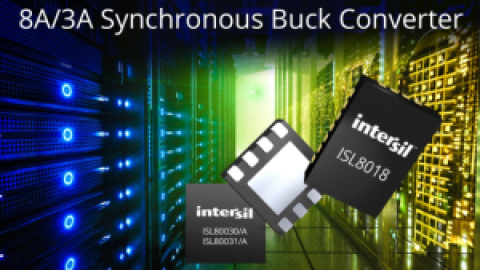 "Intersil – New ""Party of Five"" Highly Integrated Synchronous Buck Regulators – Feature-rich ISL8018 and Tiny ISL8003x Family of Devices"