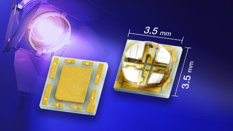 New VLMU5200-385-140 Ceramic-Based UV LED With Silicone Lens Offers Extremely Long Lifetime and High Power to 3600 mW