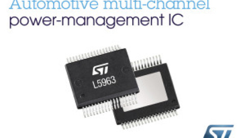 STMicroelectronics – L5963 Dual monolithic switching regulator with LDO and HSD