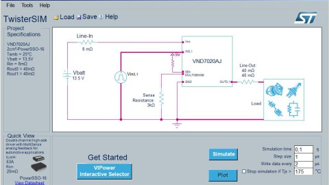 TwisterSIM – STMicroelectronics' Simulation Tool for VIPower® Devices