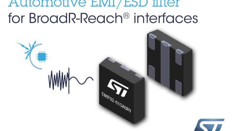 STMicroelectronics präsentiert das weltweit erste integrierte EMI-Filter für die Ethernet-Konnektivität im Automotive-Bereich