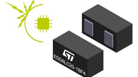STMicroelectronics – Best-in-class 20 V ESD suppressor for wearables and portable equipment