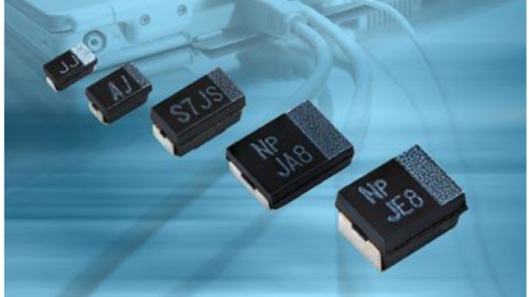 Vishay Extended T55 Series of Polymer Tantalum Chip Capacitors