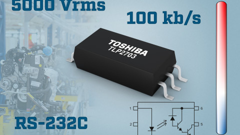 Toshiba Launches Photocoupler for RS-232C 100 kbps Communication Applications