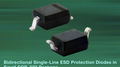 Vishay – New VLIN1626-02G and VLIN2626-02G Bidirectional Single-Line ESD Protection Diodes in Small SOD-323 Package Save Board Space in Automotive Applications
