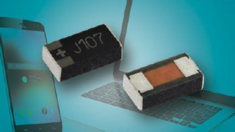 New vPolyTan Solid Tantalum Chip Capacitors Increase Volumetric Efficiency to Save Space in Handheld Consumer Electronics