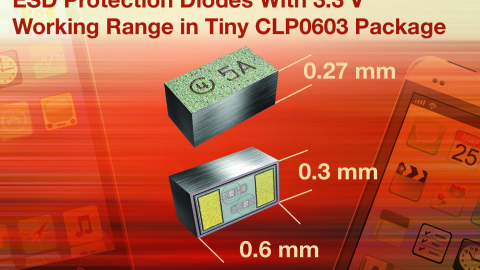 Vishay-New VBUS03B1-SD0 and VCUT03E1-SD0 BiSy Single-Line ESD Protection Diodes Feature Low Working Range of 3.3 V