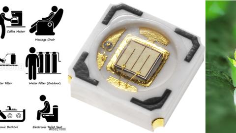 Lite-On High Power UV LED LTPL-U03AUVO280, LTPL-U03AUVO325  Series,  280nm and 325nm