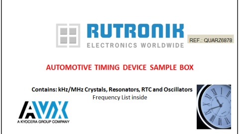 Rutronik presents Sample-Box with AVX Automotive Timing Devices
