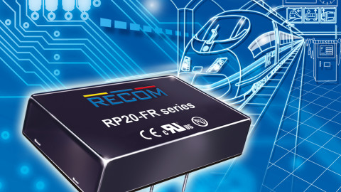 RECOM – RP20-FR Series – Railway-certified 20W DC/DC converter with 4:1 input