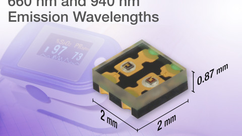 New VSMD66694 Dual-Color IR Emitting Diode Saves Space and Provides Balanced Signal Levels
