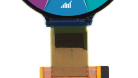Rutronik introduces round full color OLED from DLC