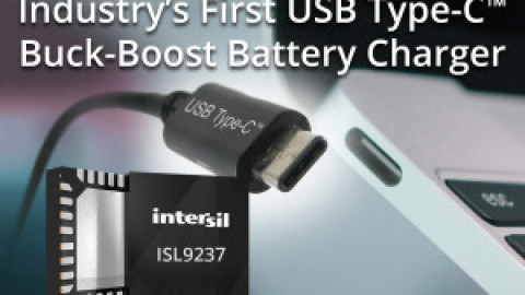 Intersil –  ISL9237 – Buck-Boost Narrow VDC Battery Charger with SMBus Interface and USB OTG