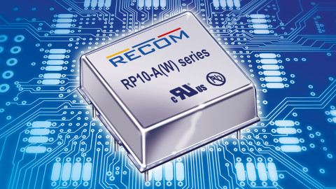 RECOM – RP10-A(W) Series – regulated 10W DC/DC converters with wide input range