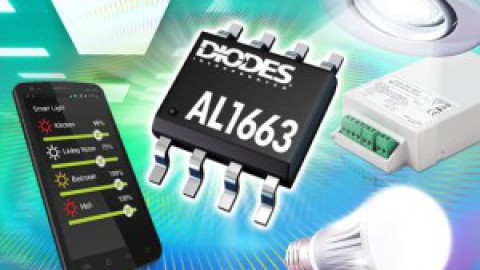 Diodes – Dimmable LED Controllers Drive Lamps up to 150W with High Power Factor