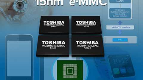 Line-up of e•MMC™ from Toshiba
